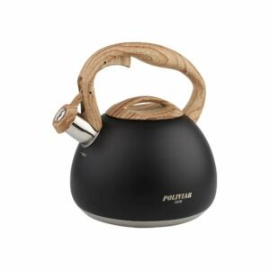 The Best Whistling Tea Kettle Option: POLIVIAR Black Ti Stovetop Tea Kettle