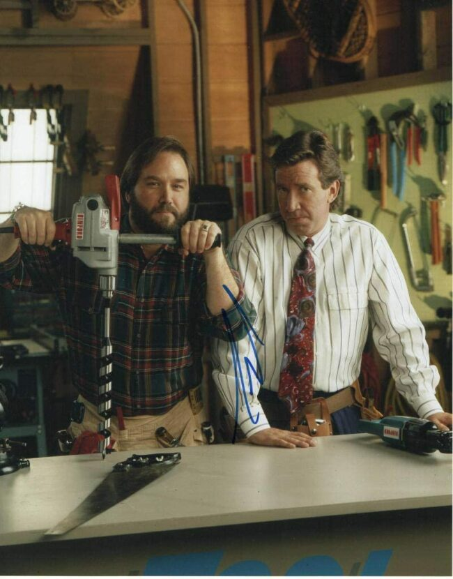 tim allen and richard karn on tool time set