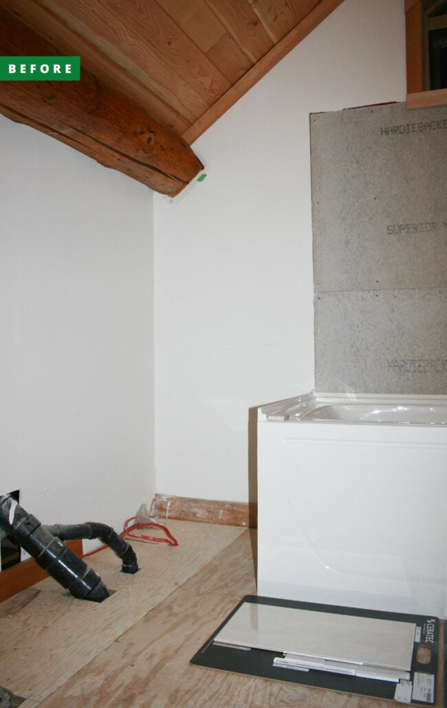 bathtub insulation side access during remodel
