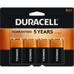 The Best 9V Battery Option: Duracell - CopperTop 9V Alkaline Batteries