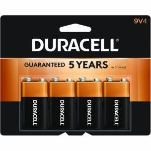 最好的9V电池选项:Duracell  -  Coppertop 9V碱性电池