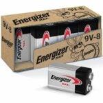 最佳的9V电池选项:Energizer Max 9V电池,优质碱性