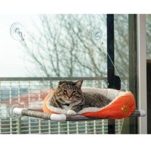 Best Cat Beds Options: Kitty Cot Original World's Best Cat Perch Black Fabric Color