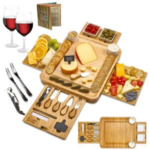 Best Cheese Board Options: Cheese Board 2 Ceramic Bowls 2 Serving Plates