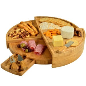 Best Cheese Board Options: Picnic at Ascot Patented Bamboo Cheese