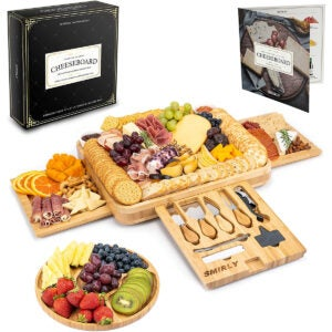 Best Cheese Board Options: Smirly Cheese Board and Knife Set