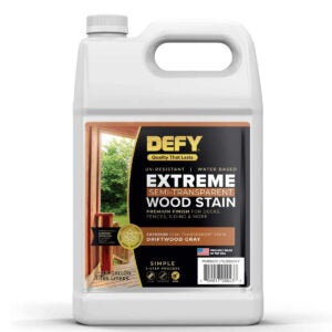 Best Exterior Wood Stain Options: DEFY Extreme 1 Gallon Semi-Transparent Exterior Wood Stain