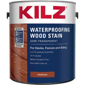 Best Exterior Wood Stain Options: KILZ L832211 Exterior Waterproofing Wood Stain