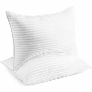 最好的羽毛枕头选项:贝克汉姆酒店收集床枕头睡觉