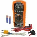 最佳的HVAC万用表选项:Klein Tools数字万用表,自动测距,600V