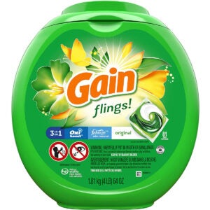 Best Laundry Pods Options: Gain flings Liquid Laundry Detergent Pacs