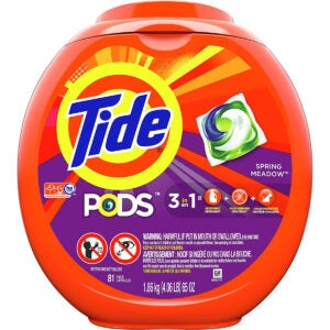 最佳洗衣荚选项:潮汐荚3合1,洗衣粉PACS