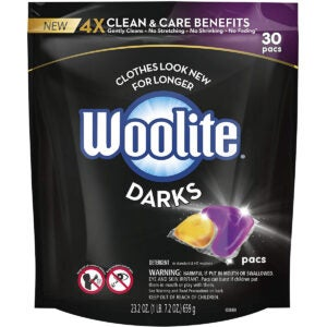 Best Laundry Pods Options: Woolite Darks Pacs, Laundry Detergent Pacs, 30 Count