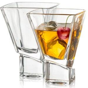 Best Martini Glass Options: JoyJolt Carre 2-Piece Cocktail Glasses Set