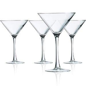 Best Martini Glass Options: Luminarc Cachet 10 Ounce Martini 4-Piece Set