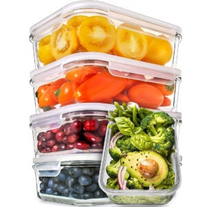 Best Meal Prep Containers Options: Prep Naturals Glass Meal Prep Containers