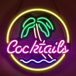 The Best Neon Signs Option: Diyida Cocktails & Palm LED Neon Light