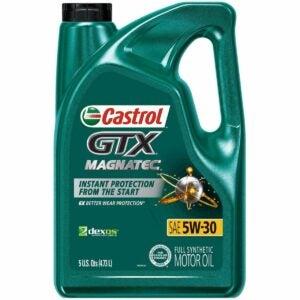 The Best Oil For Snowblower Option: Castrol GTX MAGNATEC 5W-30 Full Synthetic Motor Oil