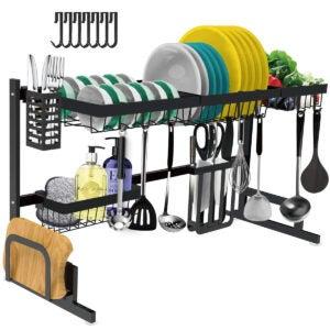 最好的水槽架选项:盘子干燥架在水槽上 - 可调节大碟架