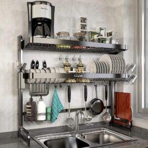 最佳过水槽盘架选项:过水槽盘烘干架,忠诚火2层