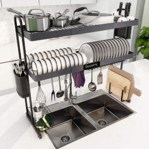 最好的水槽架选择:在水槽烘干机架上