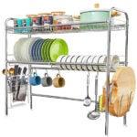 最好的水槽盘架选择:在水槽盘烘干架上