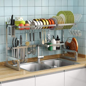 Best Over The Sink Dish Rack Options: Over the Sink Dish Drying Rack 1Easylife