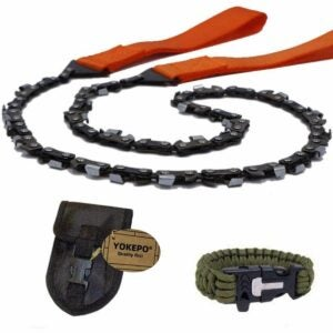 最好的口袋电锯选项:Yokepo Survival Pockine Chainsaw折叠手锯