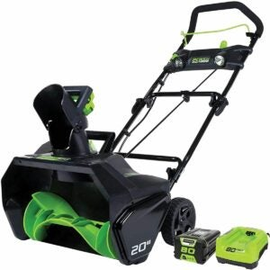 The Best Single Stage Snow Blower Option: Greenworks Pro 80V 20 inch Snow Thrower