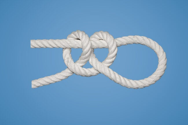 types of knots - Two half hitches