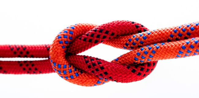 types of knots - square knot