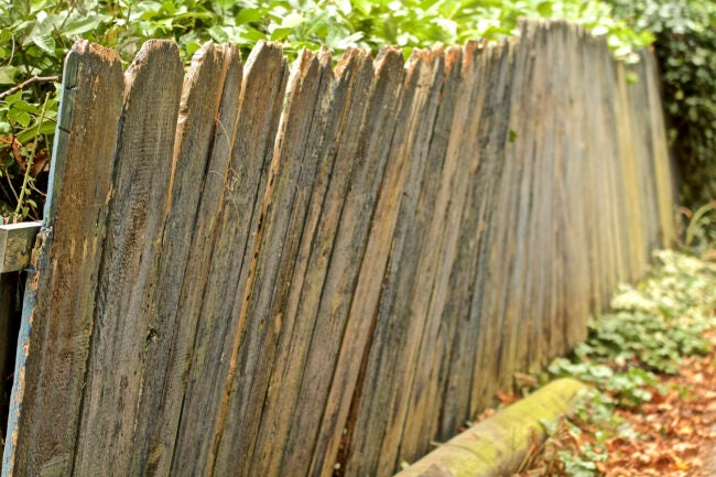 Home Improvement falling old fence
