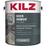 The Best Concrete Resurfacer Option: KILZ Over Armor Textured Wood_Concrete Coating