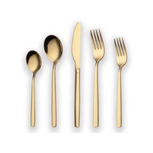 The Best Flatware Sets Option: Berglander 20 Piece Titanium Gold Plated Flatware Set
