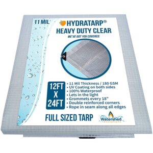 The Best Greenhouse Plastic Option: Watershed Innovations Heavy Duty Clear Tarp