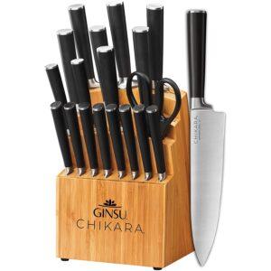 最好的日本刀具套选择:GINSU GOURMET CHIKARA系列锻造19件