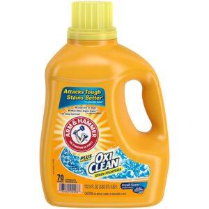 硬水最好的洗衣洗涤剂选项:ARM和锤子液体洗衣洗涤剂加上牛肉