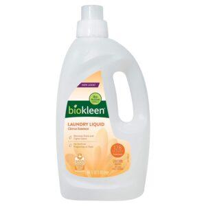 硬水的最佳洗衣液选项:Biokleen洗衣液 - 柑橘精华