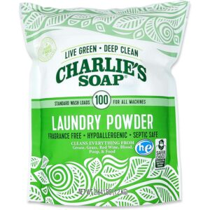 用于硬水的最佳洗衣液选项:查理的肥皂洗衣粉香氛