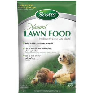 最好的有机草坪肥料选择:斯科特自然草坪食品