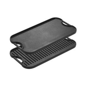 The Best Pancake Griddle Option: Lodge Pre-Seasoned Cast Iron Reversible Grill/Griddle