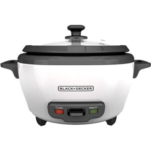 The Best Small Rice Cooker Option: BLACK+DECKER RC506 6-Cup Cooked_3-Cup Uncooked Cooker