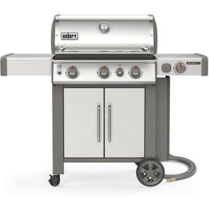 Best Stainless Steel Grill Option: Weber 66006001 Genesis II S-335 3-Burner Gas Grill