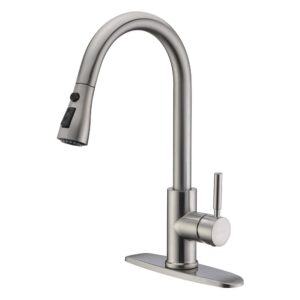 The Best Utility Sink Faucet Option: WEWE Single Handle High Arc Pull Out Kitchen Faucet