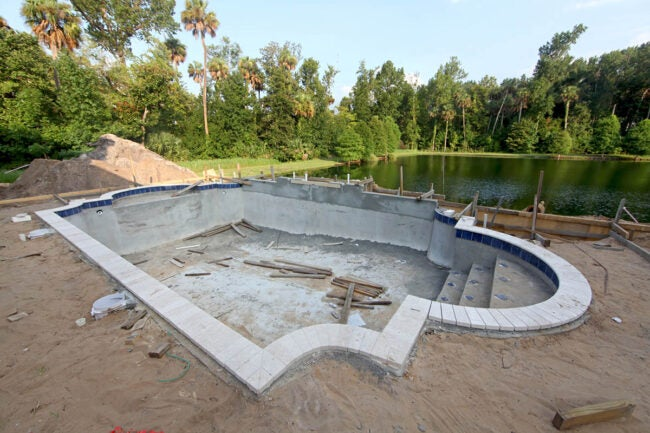 How to Build a Pool Adding the Finishing Touches