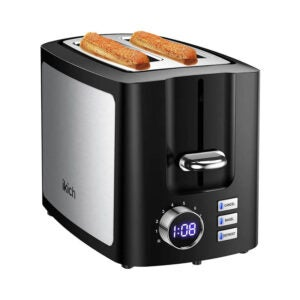 The Best 2-Slice Toaster Option: IKICH 2 Slice, LCD Screen Stainless Steel Toaster