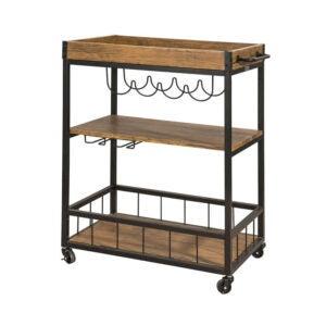 The Best Bar Carts Option: Haotian FKW56-N, Bar Serving Cart