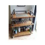 最佳酒吧推车选择:WGX设计为您的木材和金属酒架