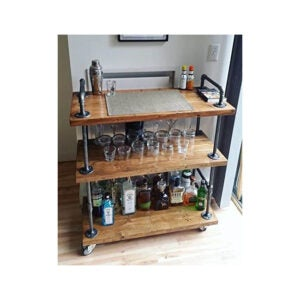 The Best Bar Carts Option: WGX Design For You Wood and Metal Wine Rack