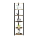 The Best Bookcases Option: HOMECHO 6 Tier Corner Shelf, Industrial Bookcase